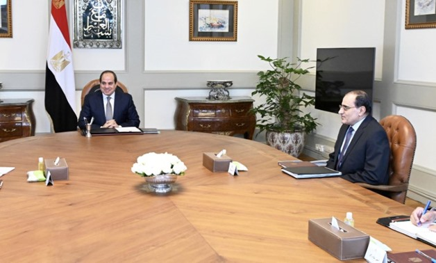 President Sisi met with Prime Minister Mustafa Madbouli and Presidential Aide for urban planning Amir Sayed Ahmed - press photo