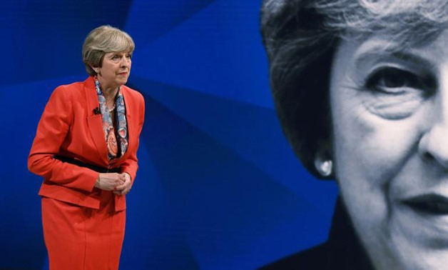 Prime Minister Theresa May appears on a joint Channel 4 and Sky News general election programme recorded at Sky studio - REUTERS/Stefan Rousseau/Pool