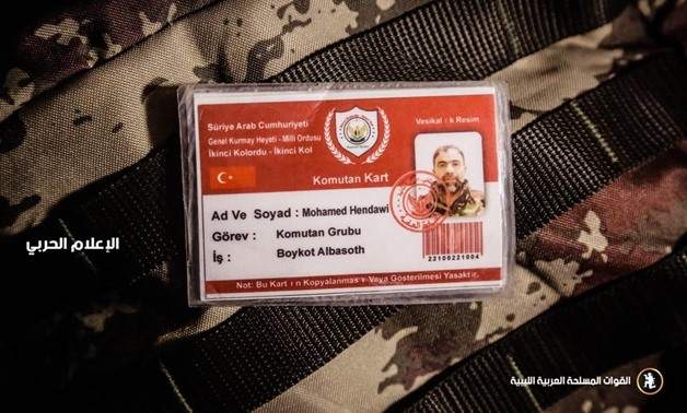 ID of Syrian mercenary Mohamed Hendawy, the commander of the second corps at Turkey-backed armed group, killed by the Libyan National Army (LNA) – Press Photo