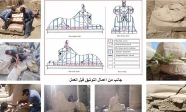 This is the largest restoration work in 50 years - Facebook/Egypt Min. of Tourism & Antiquities official page