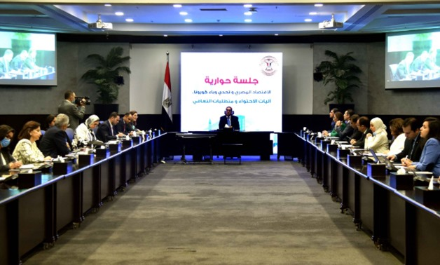 Egypt's Prime Minister Mustafa Madbouli has chaired a panel discussion with ministers and experts – Courtesy of the Cabinet