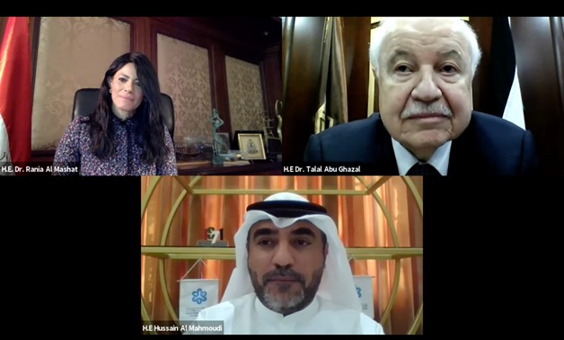 Minister of International Cooperation Dr. Rania Al-Mashat participated in a virtual meeting organized by the Sharjah Research, Technology and Innovation Park (SRTIP) - Egypt Today