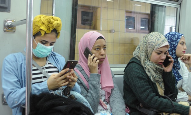 A number of Egyptian women the Cairo Metro, March 10, 2020 - Rania Goma/Reuters