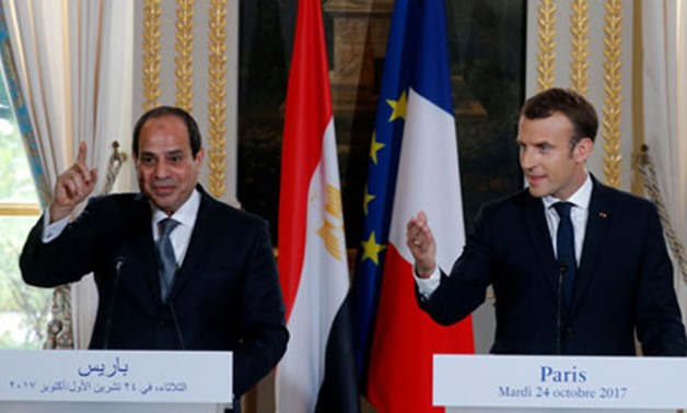 File Photo: French President Emmanuel Macron (R) and Egypt's President Abdel-Fattah El-Sisi during a press conference at the Elysee Palace in Paris (Photo: Reuters)