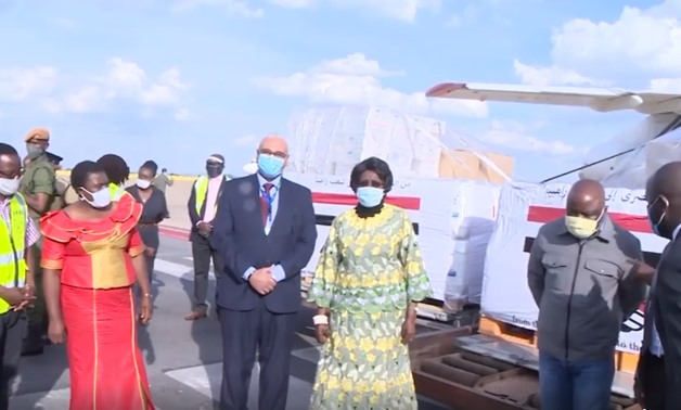 Zambian Vice President Inonge Wina receives Egyptian Covid-19 medical supplies