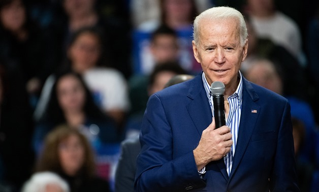 Joe Biden addresses a crowd during a campaign event at Wofford University Feb. 28, 2020 in Spartanburg, S.C.Sean Rayford / Getty Images file