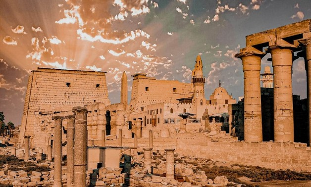 One of the pictures displayed at the online exhibition about Luxor