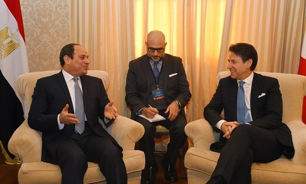 FILE- Conte said that Egypt is a cornerstone of achieving security and stability in the Middle East - Press photo