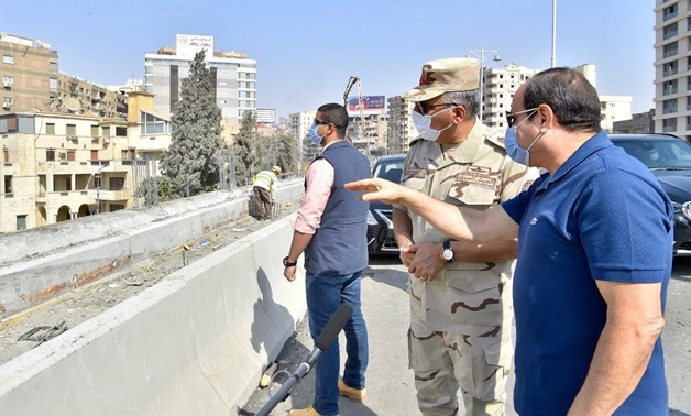 FILE - Egypt's President Abdel Fattah El Sisi inspects construction work in some road and bridge projects in eastern Cairo – Press photo