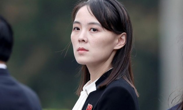 FILE PHOTO: Kim Yo Jong, sister of North Korea's leader Kim Jong Un attends wreath laying ceremony at Ho Chi Minh Mausoleum in Hanoi, Vietnam March 2, 2019. REUTERS/Jorge Silva/Pool