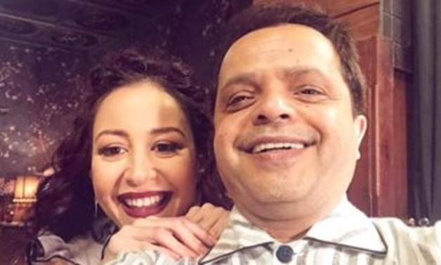 File - Mohamed Henedy and Menna Shalaby.