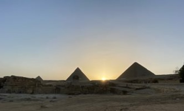 Solstice phenomenon occurs when the sun sets between the Pyramids of Cheops and Khafre - ET