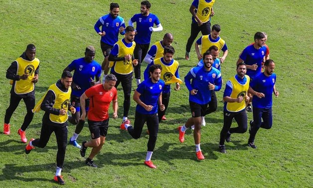 Al Ahly team in training sessions - Archived photo