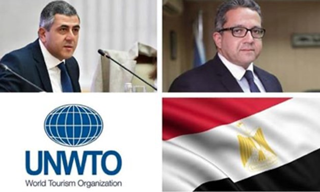 Egypt's tourism & antiquities min. Khaled el-Anani [Right] – Ministry's official Facebook account