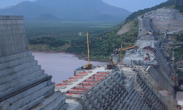 FILE - Ethiopia's Grand Renaissance Dam is seen as it undergoes construction work on the river Nile in Guba Woreda, Benishangul Gumuz Region, Ethiopia September 26, 2019. Picture taken September 26, 2019. REUTERS/Tiksa Negeri