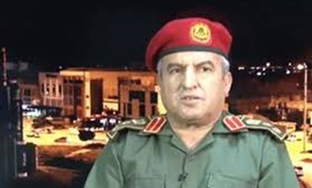 FILE - Commander of Mobilization at the Libyan National Army (LNA) Khaled al-Mahgoub