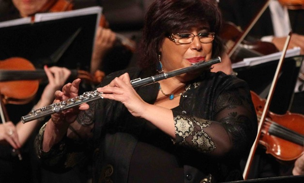 Egypt's Min. of Culture participating in the June 30 concert – Min. of Culture's official page/ Facebook