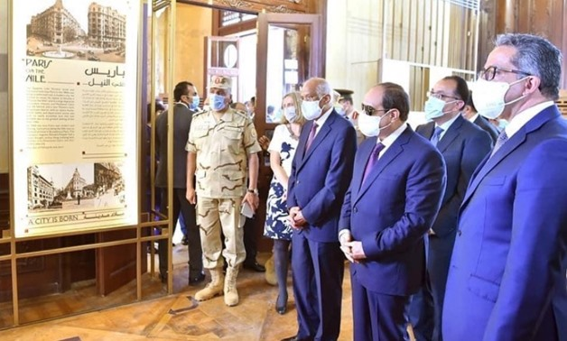 File - President Abdel Fattah El-Sisi and Khaled el Enany during the inauguration of Baron Palace.