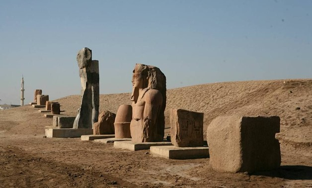 Ramses II stelae previously uncovered at San el-Hagar site -        Pinterest/Tanin