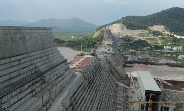FILE - Ethiopia's Grand Renaissance Dam is seen as it undergoes construction work on the river Nile in Guba Woreda, Benishangul Gumuz Region, Ethiopia September 26, 2019. REUTERS/Tiksa Negeri