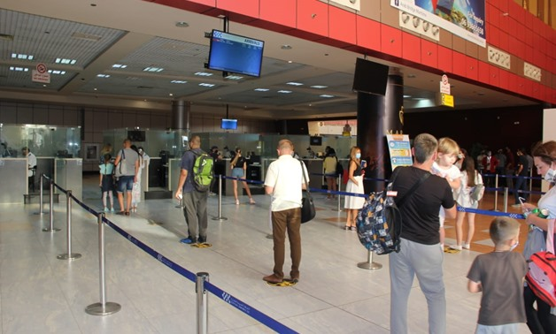 FILE - Egypt receives tourists as airports open up, July 1
