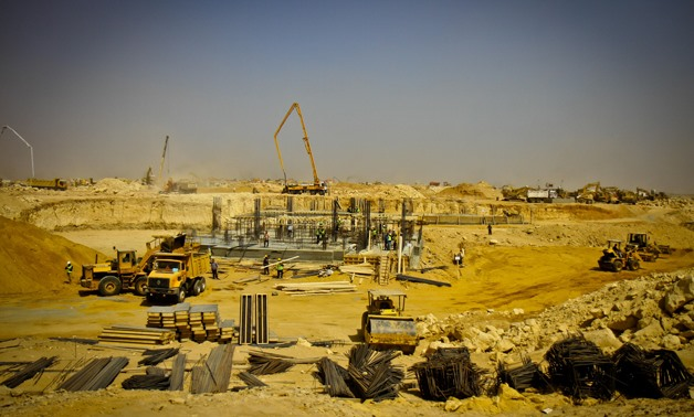 Constructions works in New Administrative Capital of Egypt - Amr Mostafa