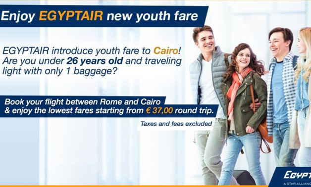 "EgyptAir announces ""youth fare"" between Rome-Cairo - Twitter"