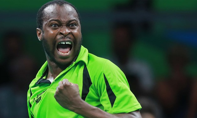 Quadri Aruna - Press image courtesy International Tennis Table Federation website.