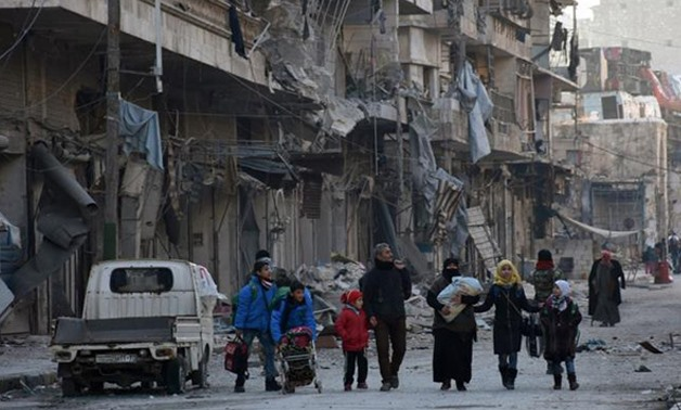 There were no restrictions or limitations to the extent of destruction wrought on Aleppo (SANA/Handout via REUTERS)