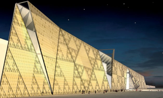The design of Grand Egyptian Museum interance