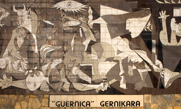 Picasso's art was affected by the political atmosphere. Guernica, one of his most famous murals, was his response to the Spanish civil war and the bombing of Guernica. Via Wikimedia Commons / Papamanila.