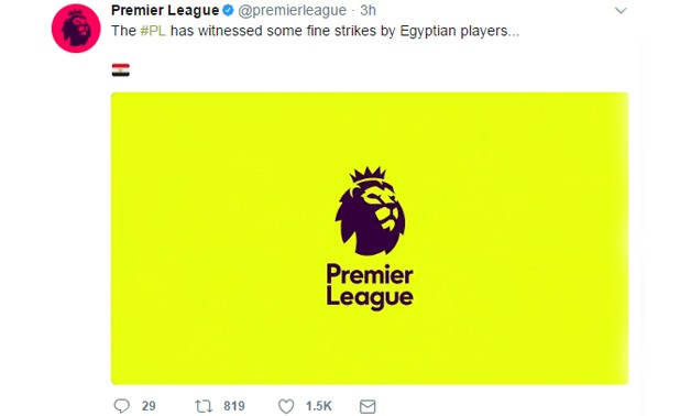 Screenshot from Premier League official Twitter account
