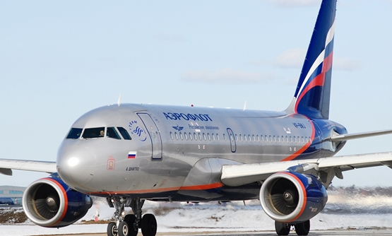 Airbus A319 operated by Aeroflot - Russian Airlines - cc via wikimedia commons
