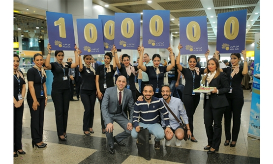 Nile Air celebrating its one millionth passenger in the first nine months of 2017 this week - Photo courtesy of Nile Air