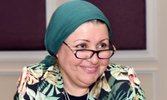 FILE - Chairman of Egyptian General Authority for Investment (GAFI)  Mona Zobaa