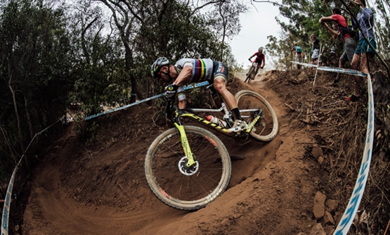 New Zealand's Sam Gaze held off reigning UCI Mountain Bike World Cup cross-country champion Nino Schurter in a thriller to start the new season in Stellenbosch, South Africa on  March 10th, 2018/Bartek Wolinski/Reuters