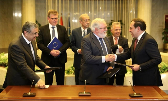 MoU was signed by Minister of Electricity, Mohamed Shaker; Minister of Petroleum, Tarek al-Molla and EU Commissioner, Miguel Arias Cañete - EU