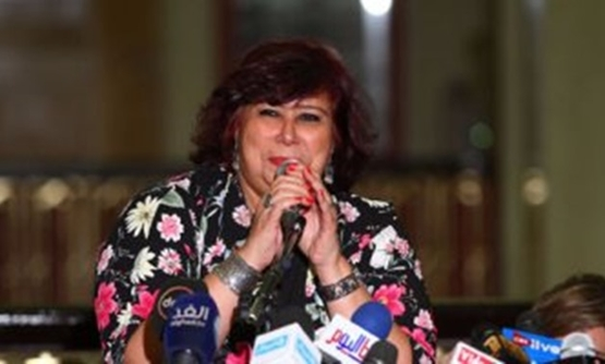 FILE - The famous Egyptian artist and head of Cairo Opera house Enas Abdel Dayem has been chosen as the new minister of Culture