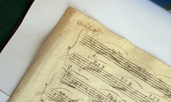 "A manuscript of Mozart's ""The Marriage of Figaro"" may have failed to sell at auction in France, but the National Szechenyi Library in Budapest owns this original manuscript of Mozart's A major sonata, which it presented to the public in 2014-AFP/File / AT"