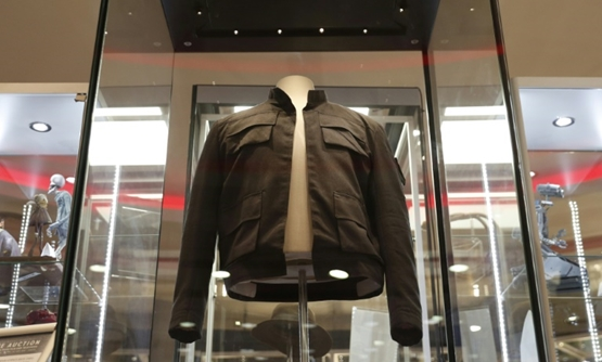 "Han Solo's jacket from ""The Empire Strikes Back"" is expected to fetch up to £1 million at Thursday's auction-AFP / Adrian DENNIS"