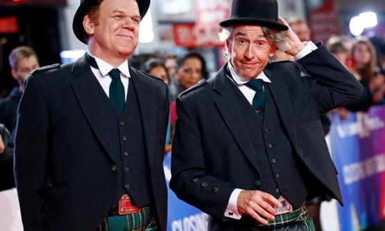 "Actors John C. Reilly and Steve Coogan arrive at the world premiere of ""Stan and Ollie"" during the London Film Festival, in London, Britain October 21, 2018. REUTERS/Henry Nicholls."