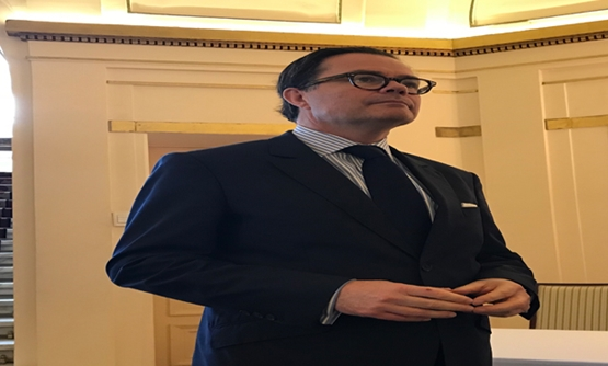 Ambassador of France to Egypt Stephane Romatet in a press conference in the French Embassy in Egypt to launch France.Fr in Arabic. December 12, 2018 - Egypt Today/Noha El Tawil