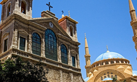Beirut church and mosque - Creative Commons Via Wikimedia