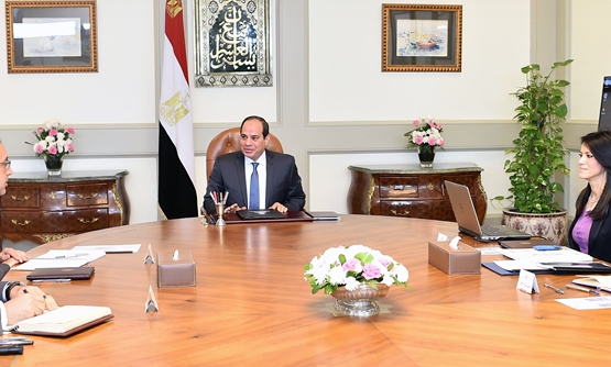President Sisi meets with Minister of Tourism Rania Al Mashat in presence of Prime Minister Mustafa Madbouli, Presidential Spokesperson Bassam Radi- Press photo