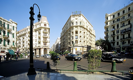 FILE- downtown Cairo
