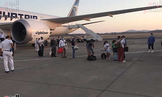 Marsa Alam International Airport continues to receive flights carrying Egyptians back home since an air bridge was launched in April - Egypt Today