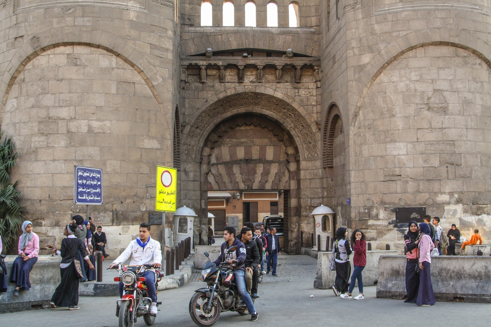 Bab al-Fotouh (Gate of the Conquests), one of the surviving gates on the old city walls. Credit Enas El Masry