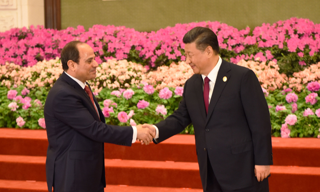 President Sisi and Chinese Counterpart- press photo