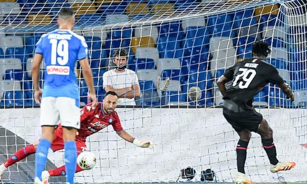 Kessie penalty saved Donnarumma's blushes as Milan hold Napoli