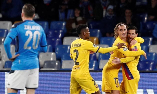 Barcelona host Napoli in the UEFA Champions League